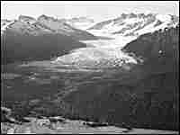 Bradford Washburn shot this photograph of Mendenhall Glacier in Juneau, Alaska, 70 years ago.