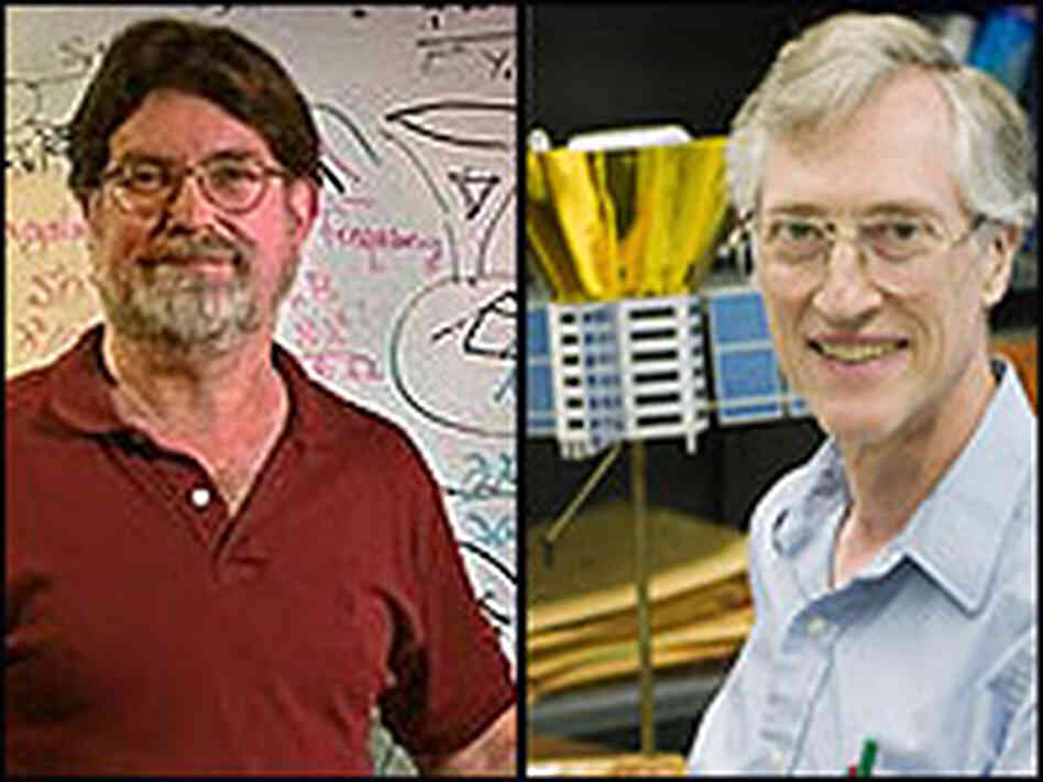 George Smoot, left, and John Mather win the 2006 Nobel Prize in Physics