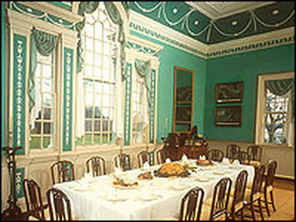 Washington's formal dining room at Mount Vernon.