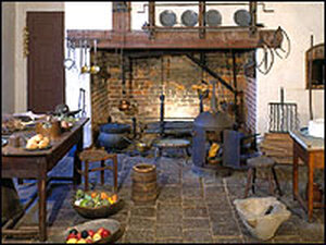 The kitchen at Mount Vernon.