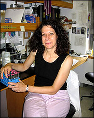 Bonnie Bassler at her labs at Princeton University.