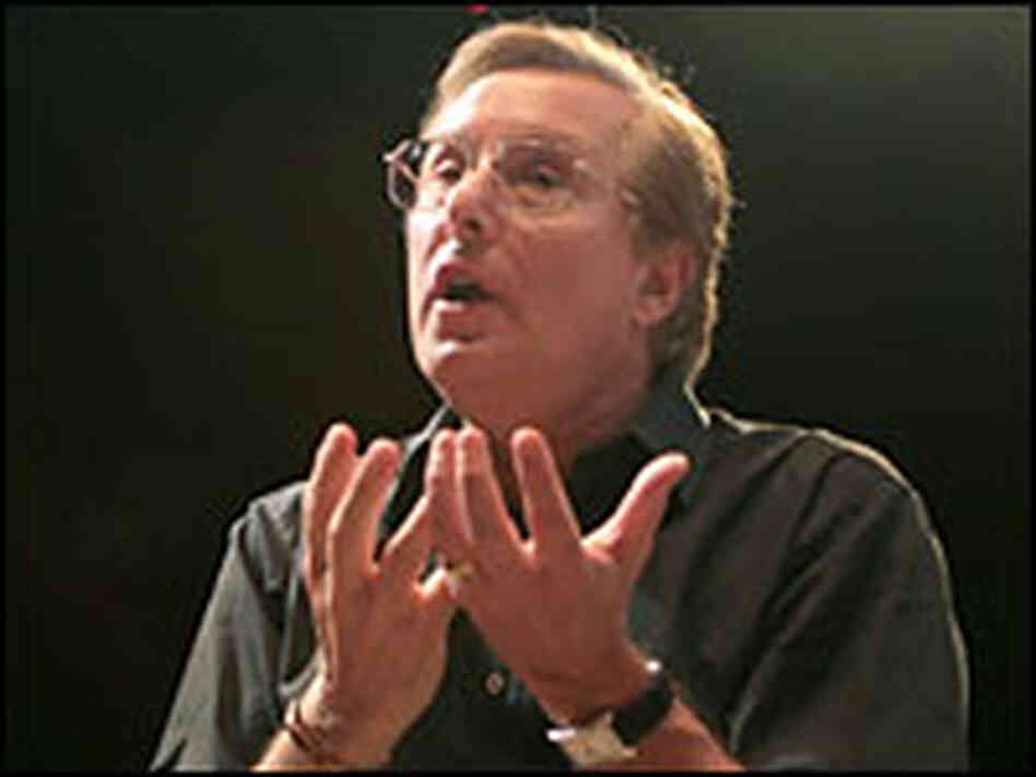 William Friedkin directing a rehearsal of 'Gianni Schicchi.'