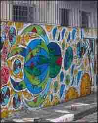 Grafitti Row in Sao Paulo