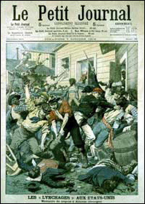 cover of French publication of Oct. 7, 1906, featuring the Atlanta riot