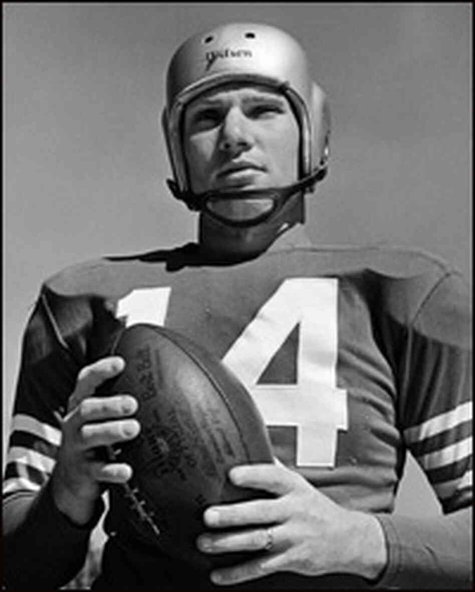 Football star Y.A. Tittle in 1950