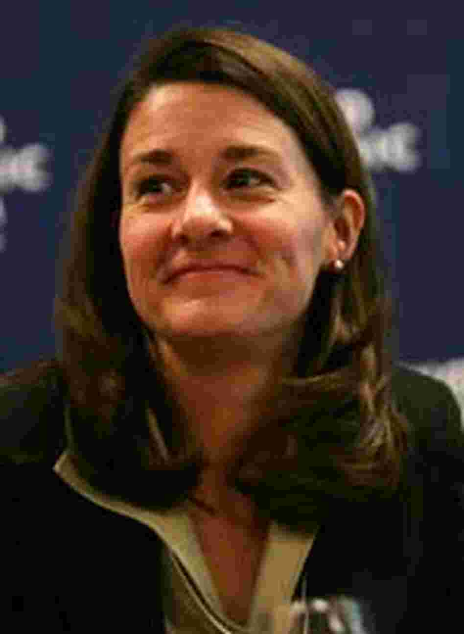 Melinda Gates attends a session at the World Economic Forum in January.