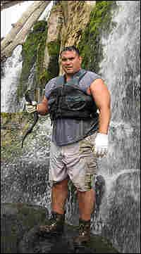 Pete Wakeland Holds a Lamprey