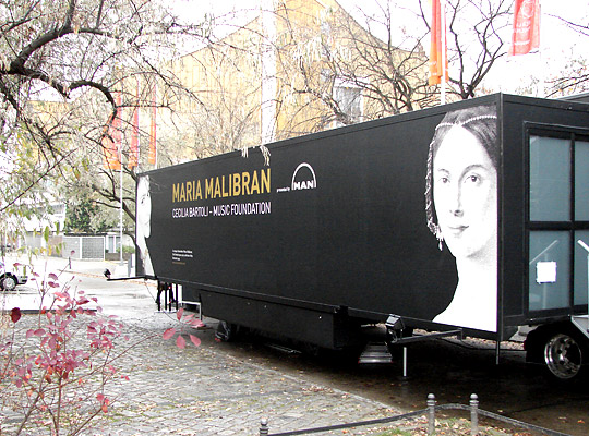 Cecilia Bartoli is touring Europe with a mobile museum dedicated to the art of 19th-century diva Maria Malibran.