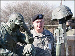 Lt. Col. Peter Bacon at the 4th Infantry Division Memorial at Fort Hood, Killeen, Texas
