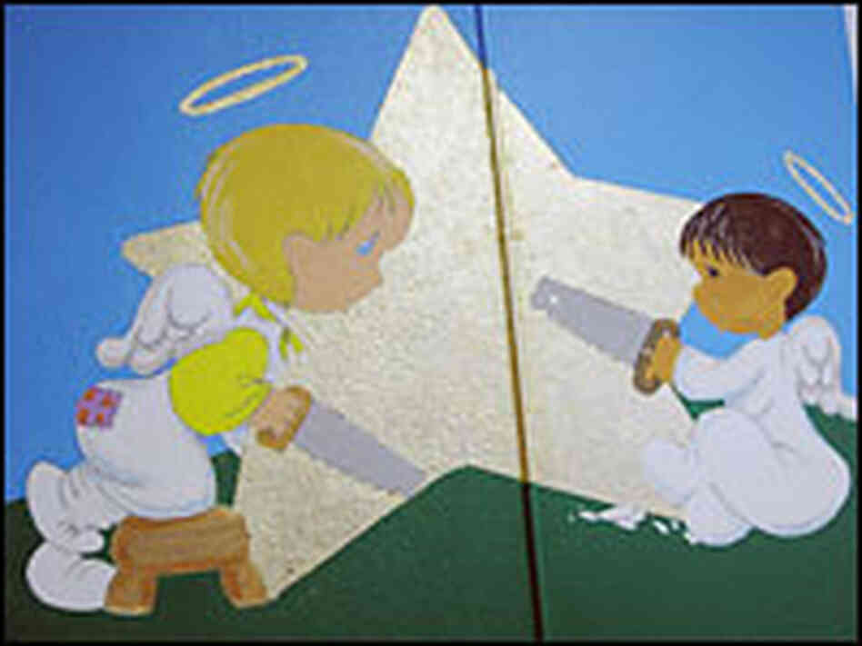 A mural adorns a playroom at Fort Hood's Gold Star Family Support Center.