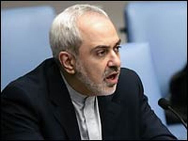 Javad Zarif, Iranian ambassador to the United Nations, speaks at the U.N. headquarters on Dec. 23, 2006.