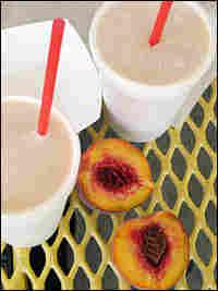 Peach milkshake at Whitey's Jolly Cone in West Sacramento, Calif.
