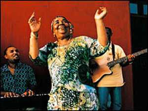 Cesaria Evora and her band