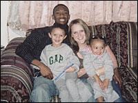 Bryan Walker, Anna Blazer, and their two children, Brianna and Brandon