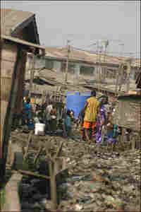 Residents of the Ajegunle Slum in Lagos, Nigeria