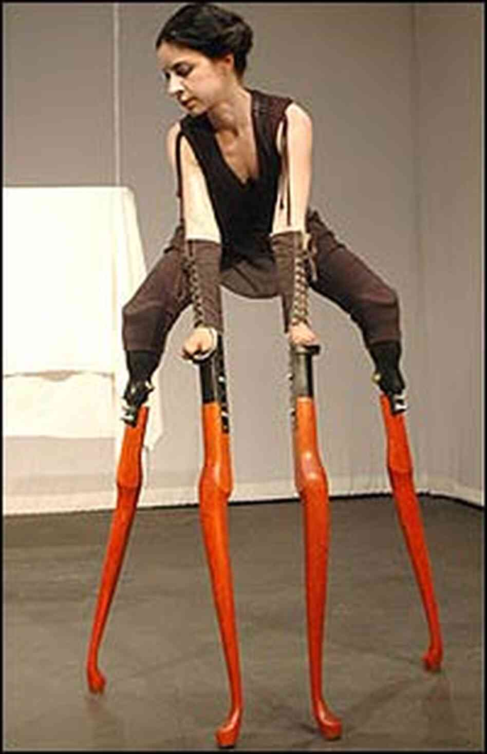 queen anne leg template - artist takes inspiration from amputation npr