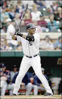 Gary Sheffield #3 of the Detroit Tigers stands at the plate during a Spring Training game against th