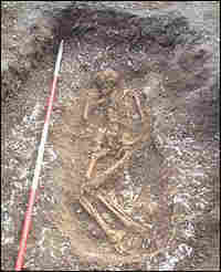 Gravesite of a villager, dated to the beginning of the medieval warm period.