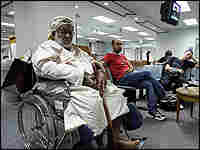 Foreign patients wait at a hospital in Bangkok, Thailand.