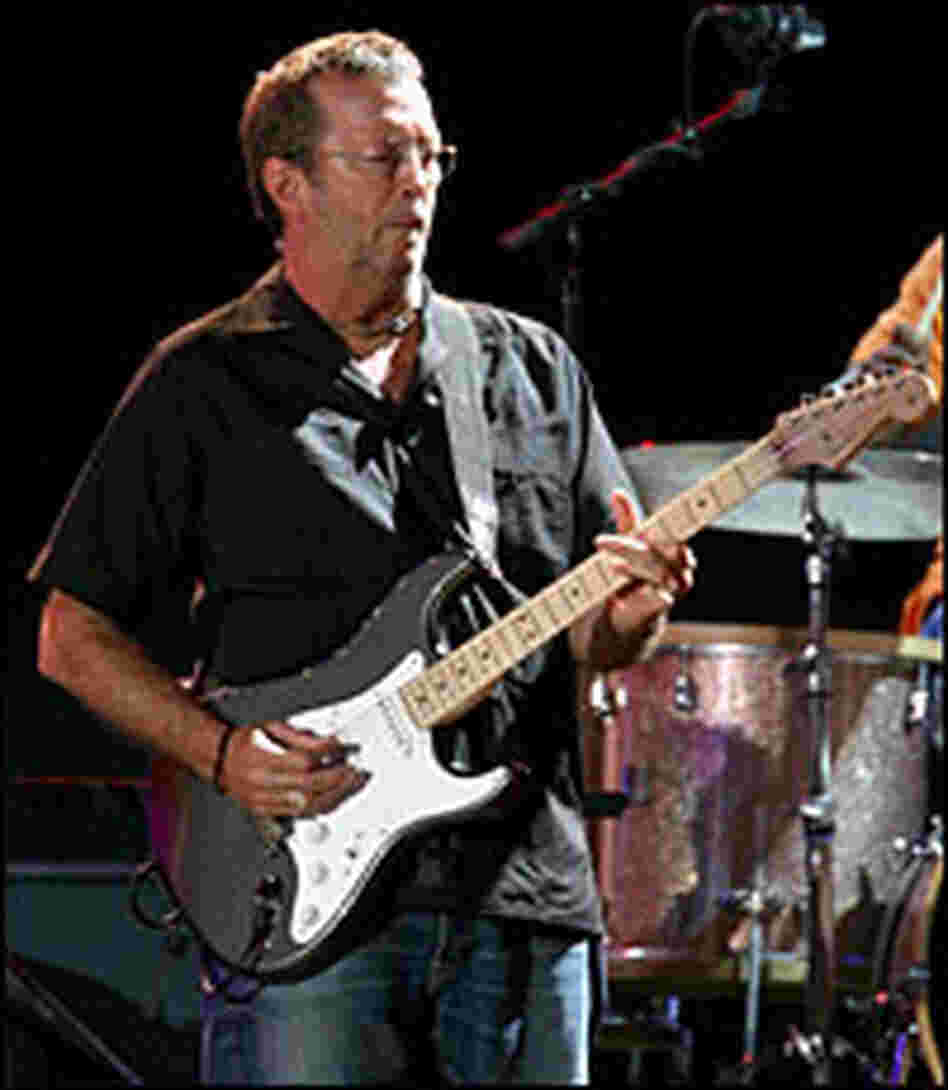 Eric Clapton performs during the Crossroads Guitar Festival in Illinois in July 2007.