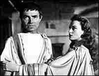 Deborah Kerr and James Mason in the film 'Julius Caesar'
