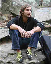 Chris Sharma, seated at Carderock