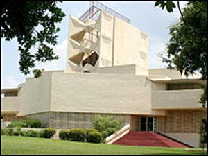 The Annie Pfeiffer Chapel , designed by Frank Lloyd Wright.