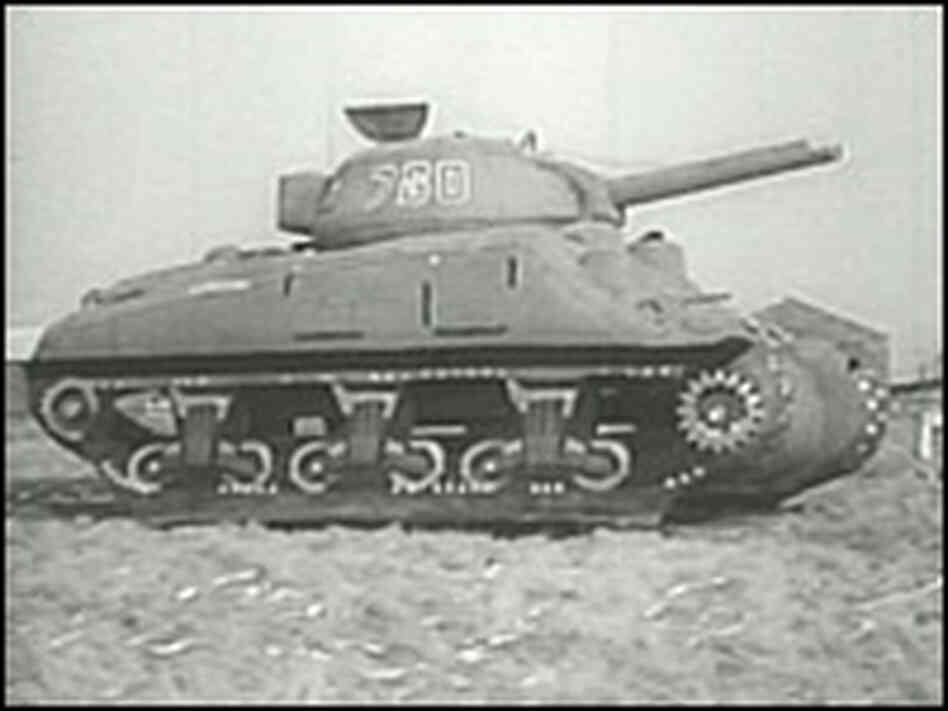 This is an example of inflatable tanks created by soldiers of the 23rd.