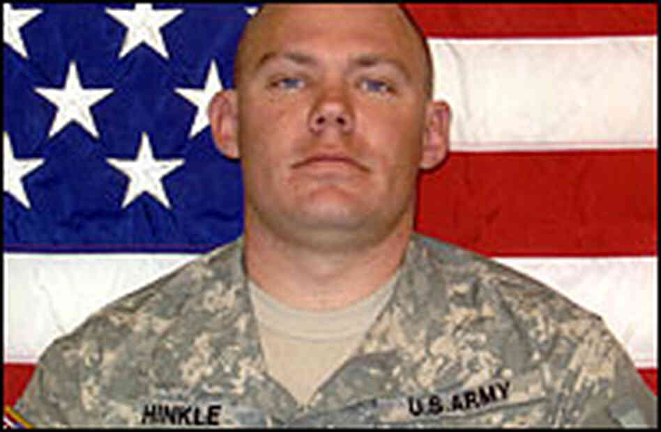 Hinkle's predeployment photo.