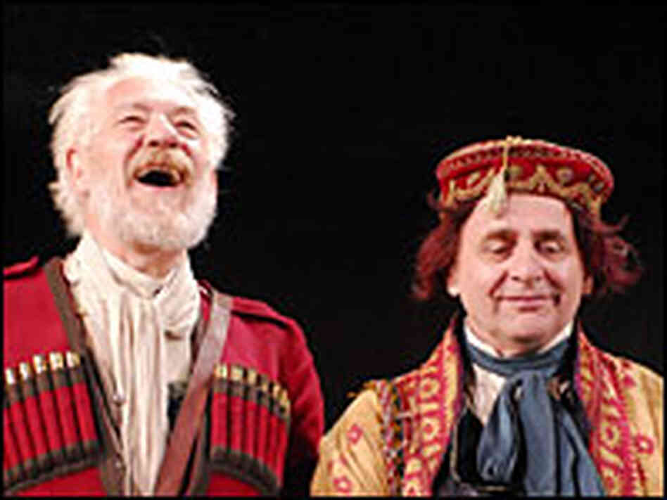 Ian McKellen as Lear and Sylvester McCoy as his Fool, in the RSC production