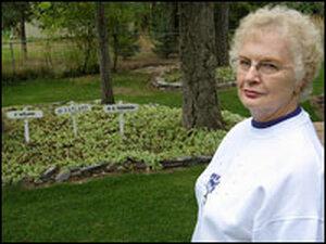 Eva Thompson and her memorial garden