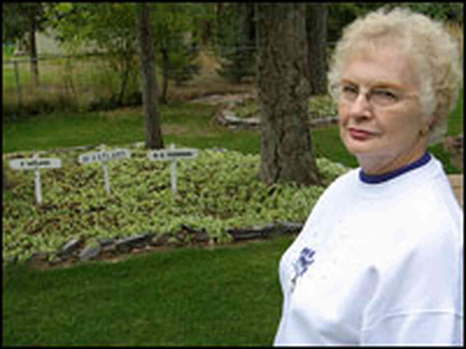 Eva Thompson and her memorial garden