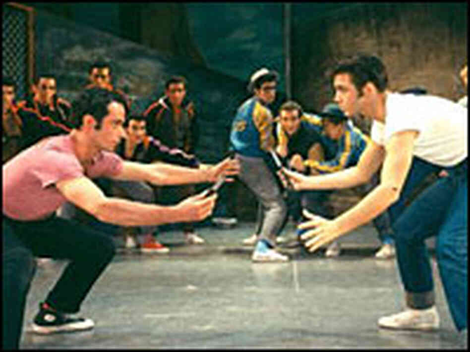 Rumble scene from 'West Side Story,' Original Broadway Cast