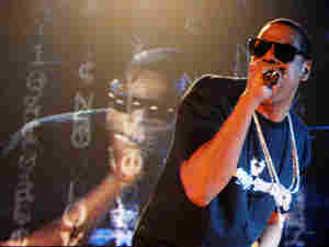 Jay-Z, performing at the Hammerstein Ballroom