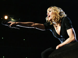 Madonna, performing at Live Earth 2007