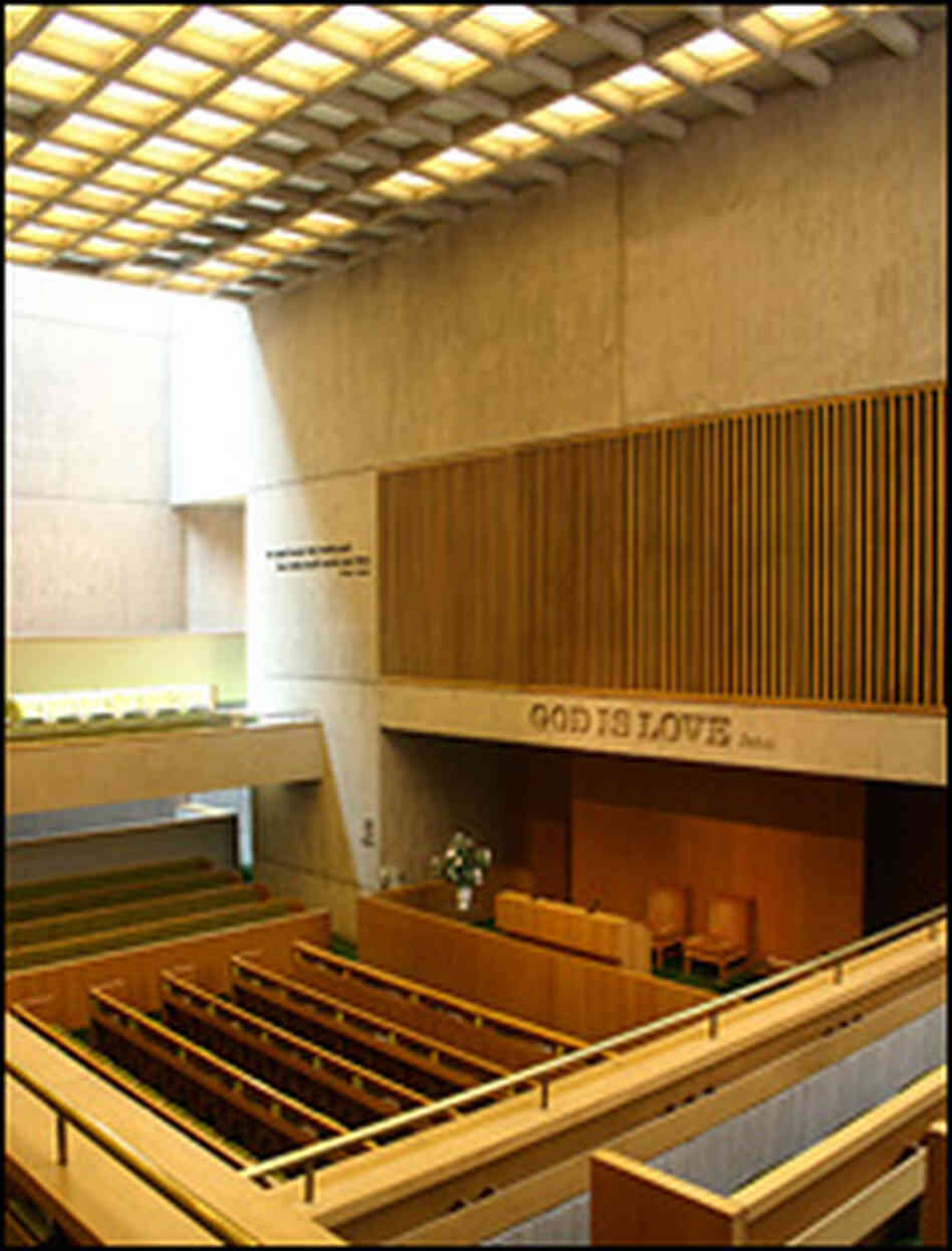 The inside of the Third Church of Christ, Scientist
