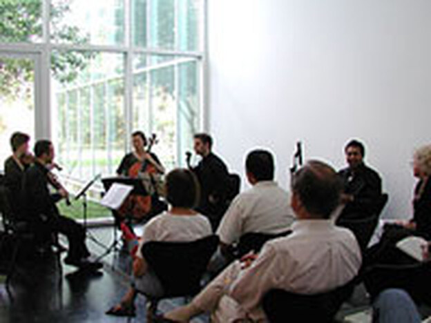 The Brentano String Quartet performs at the Menil Collection.