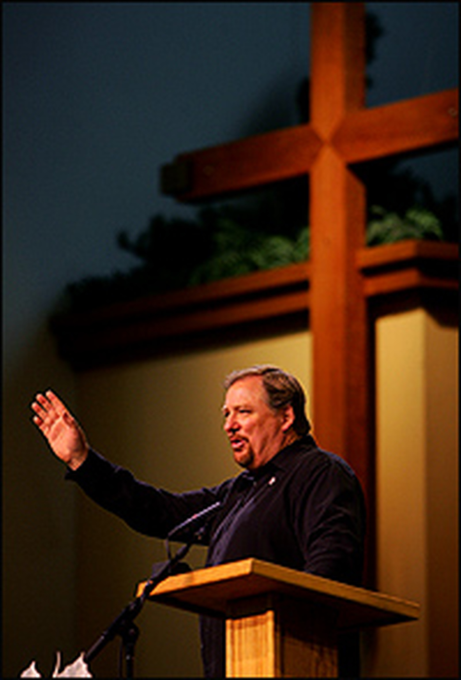 Pastor Rick Warren, founder and leader of the  Saddleback Valley Community Church, speaks at the third annual Global Summit on AIDS and the Church in November 2007.