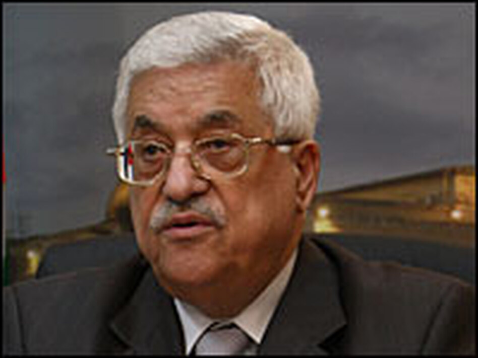 Palestinian President Mahmoud Abbas during his inauguration as Palestinian state president on Nov. 24.  Some Palestinians believe peace talks have reached an impasse.