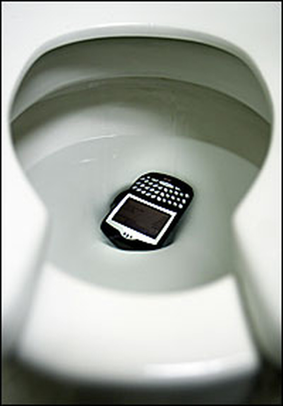 When a BlackBerry or cell phone inadvertently takes a dive, that sinking feeling follows.