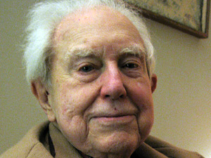 American composer Elliott Carter at 100. [Photo by Tom Cole/NPR]