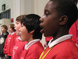 Duane Smith, Jr., sings in rehearsal with the San Francisco Boys Chorus.