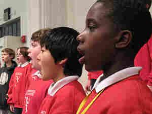 Duane Smith, Jr., sings in rehearsal with the San Francisco Boys Chorus.