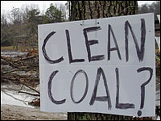 For many in the environmental community long opposed to coal-burning power plants, this spill is a form of validation.  Someone has posted handwritten signs like this one all around the affected area.