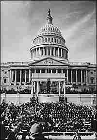 An estimated 1.2 million people watched LBJ's inauguration.