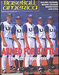 Dickey (second from left) and the four other pitchers for the 1996 U.S. Olympic baseball team