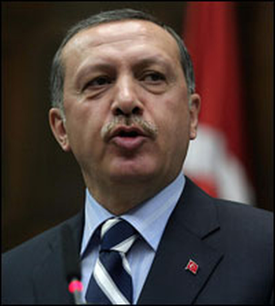 Prime Minister Recep Tayyip Erdogan addresses the Turkish Parliament in Ankara on Tuesday.