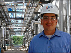 AltraBiofuel CEO Ken DeCubellis stands at the company's plant in Indiana.