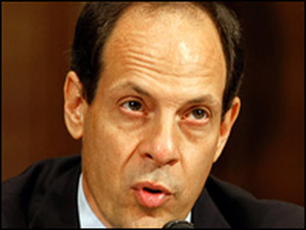 Justice Department Inspector General Glenn Fine testifies before Congress on Wednesday.