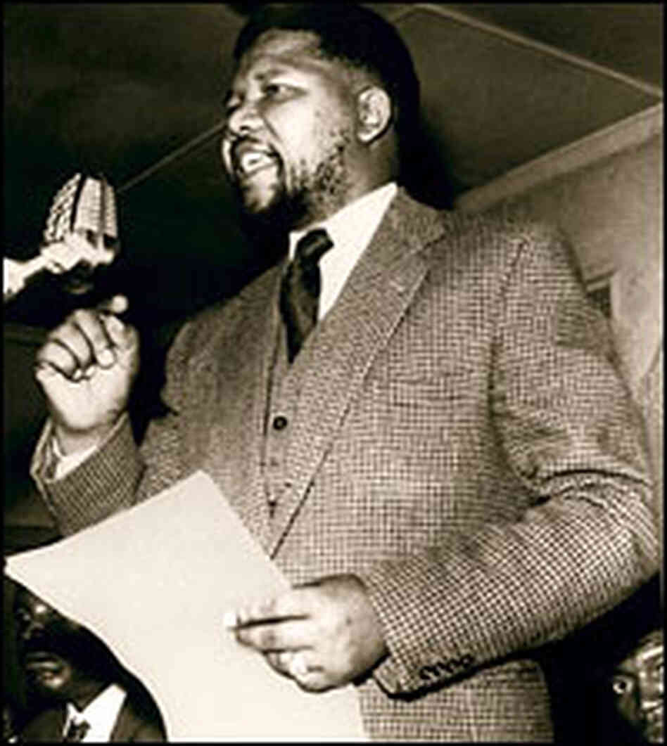 Nelson Mandela speaks in an undated photo.
